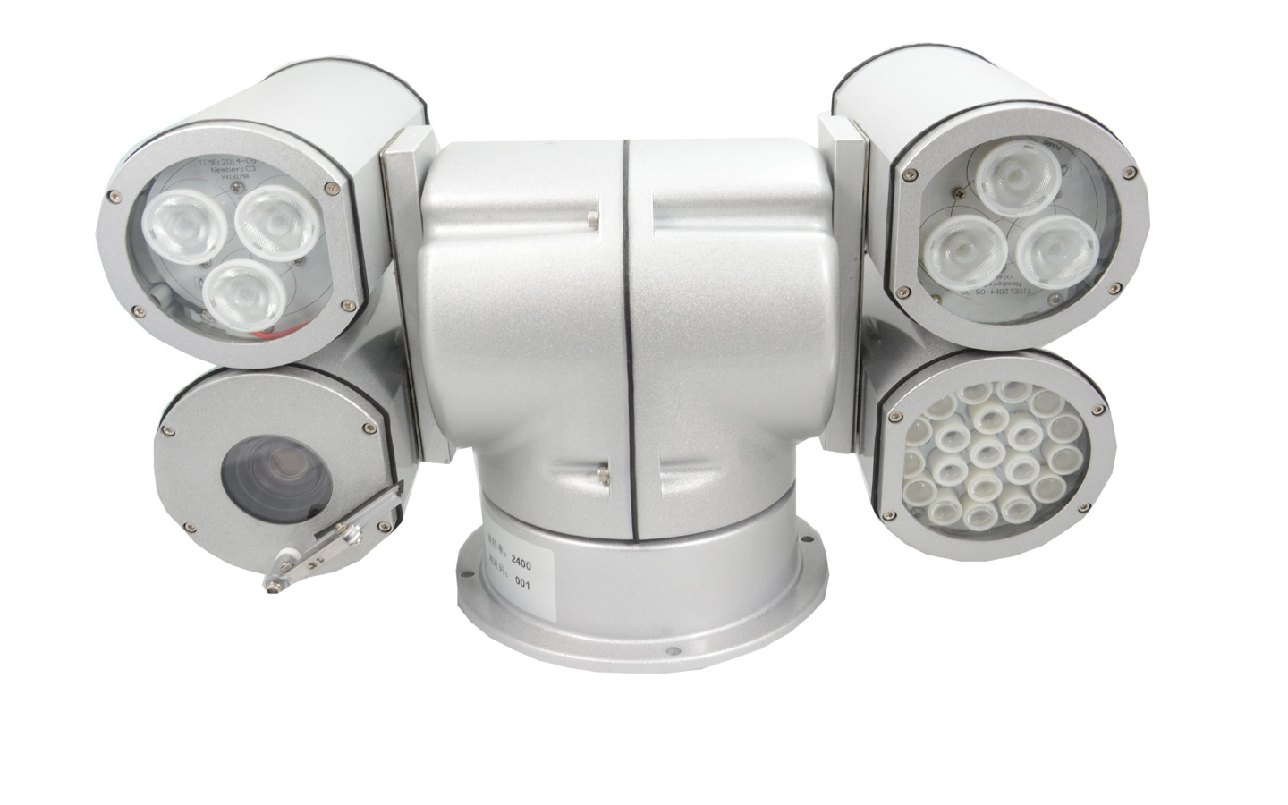 2.0MP HD IR vehicle PTZ Camera with 3 LED light for monitoring system