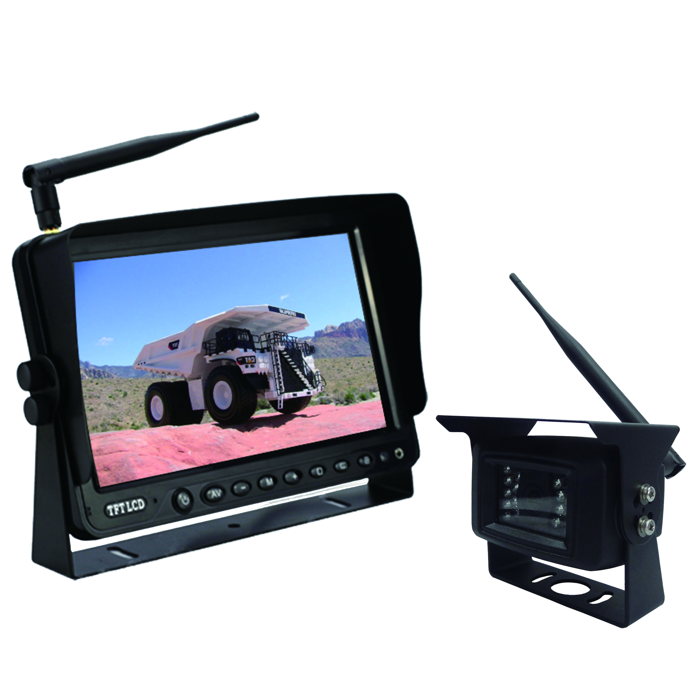 9 inch wireless reverse camera system