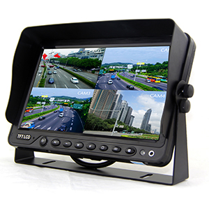 7 inch quad HD monitor with DVR function support 256G SD card video recording